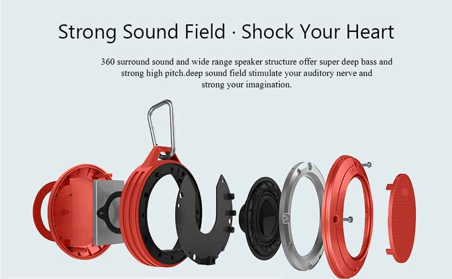 MIFA F10 Portable Shock Proof Resistance Waterproof 3 D Sound Stereo Bluetooth Speaker With Usb Card