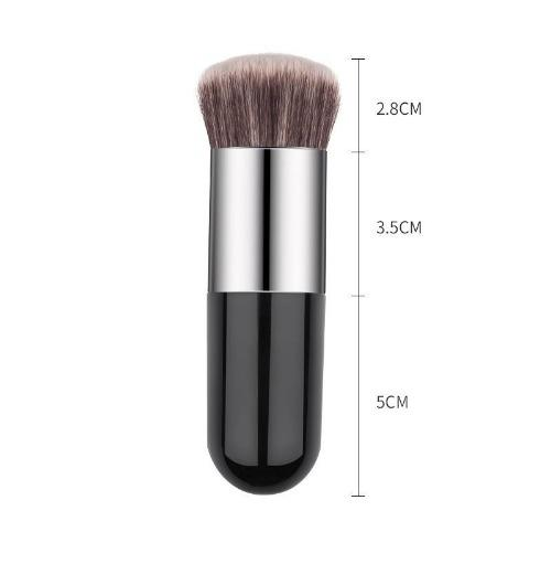 1pc Professional Chubby Pier Foundation Brush 5Color Makeup Brush Flat Cream Makeup Brushes Professional Cosmetic Make-up Brush - primeroar