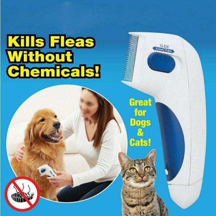 Dog Electric Terminator Brush Anti Removal Kill Lice Cleaner Electric Head Pet Fleas Electronic Lice Comb for Dog - primeroar