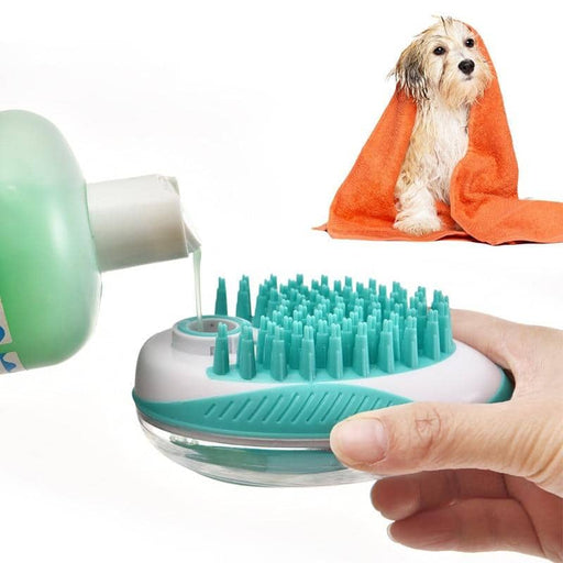 Dog Grooming Silicone Soft Brush Bathing Cleaning Tool - primeroar