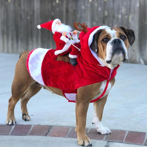 Dog Winter Clothes Christmas Outfit 2019 Running Santa Christmas Adjustable Pet Suit - primeroar
