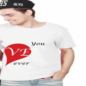 EnjoytheSpirit I Love You Forever Couple T-Shirts Set Fashion Matching Couple Shirts Gift for Couples Good Quality White Tee - primeroar