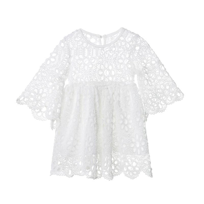 Fashion Family Matching Clothes Mother Daughter Dresses Women Floral Lace Dress Baby Girl Mini Dress Mom Baby Girl Party Clothes - primeroar