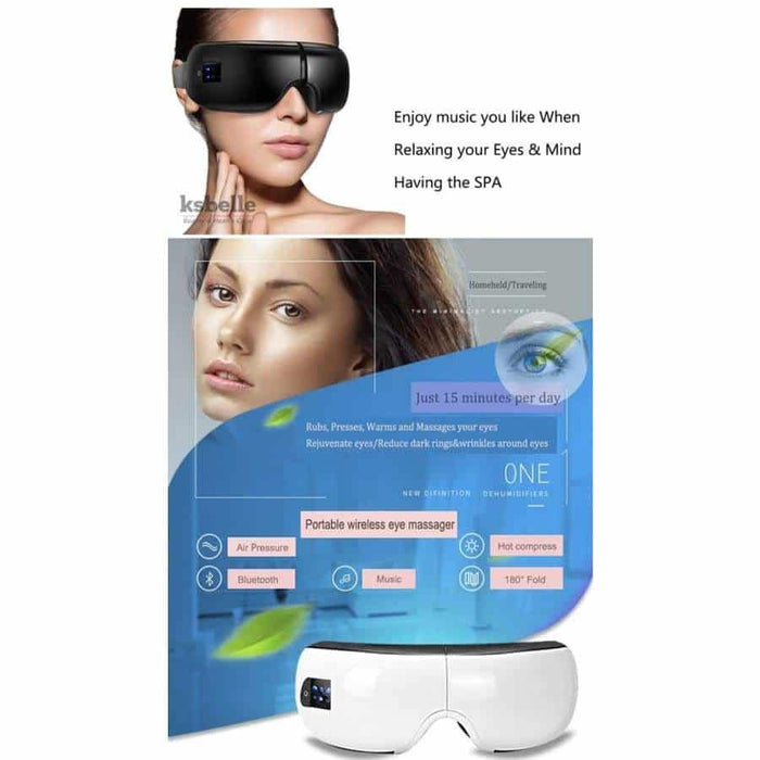 Intelligent Household Googgle Smart Eyes Acupuncture Massager Wireless For Anti Wrinkle Dark Circles With Warm And Hot Air Compress - primeroar