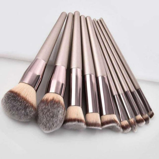 Luxury Champagne Makeup Brushes Set For Foundation Powder Blush Eyeshadow Concealer Lip Eye Make Up Brush Cosmetics Beauty Tools - primeroar