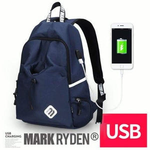 Mark Ryden Backpack  Ergonomic High Capacity USB Charging Multi-layer Space Travel Male Bag Anti-thief Mochila - primeroar