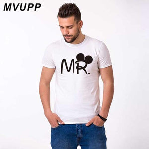 Mr mrs couple t shirt for lovers husband wife matching clothes - primeroar