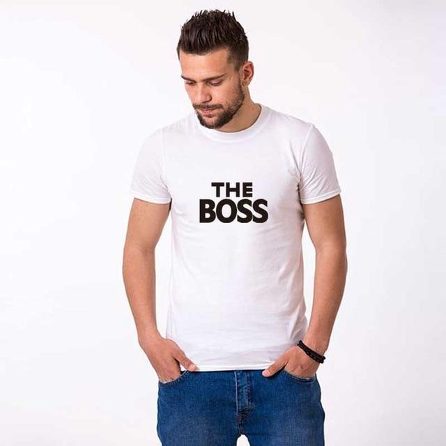 Real Boss kiss white couple tshirt for wife and husband men women clothes funny tee valentine lovers - primeroar
