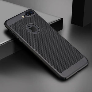 Ultra Slim Phone Case For iPhone 6 6s 7 8 Plus Hollow Heat Dissipation Case Hard PC For iPhone 5 S SE 11 Pro Cover Coque X S MAX - primeroar