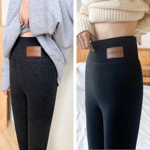 Womens High Waist Elastic Thermal Winter Warm Fleece lined  Slim Fit Pants Fashion Wool Celebs In Leggings - primeroar