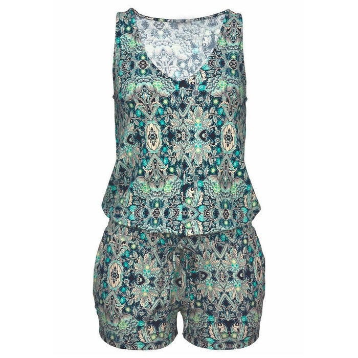 Womail bodysuit Women Summer Fashion Casual Print Clubwear Sleeveless Playsuit Print Bodysuit Party Jumpsuit new 2020  M2 - primeroar