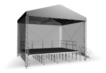 "ProFlex Gable  Shape Roof system, 290mm (11.4"") Square Truss Construction. Canopy and Walls included."