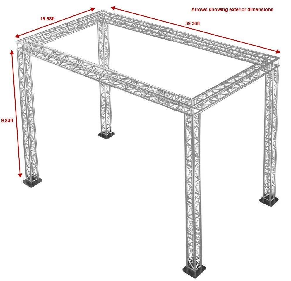 Trade Show Square Truss Packages – 9.84 ft High