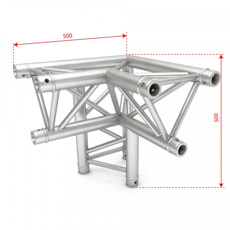 F34 Triangle Truss - 3 Way 90˚ Right Corner