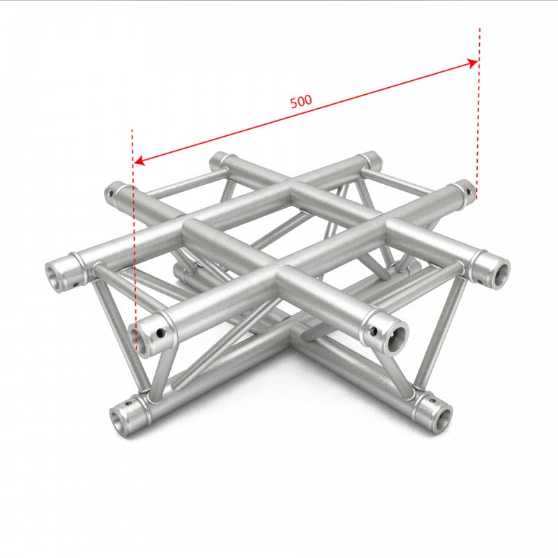 F34 Triangle Truss - 4 Way Cross Junction