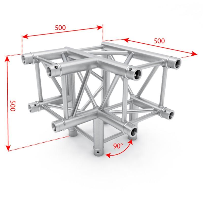 F34 Square Box Truss - 3 Way 90˚ Corner