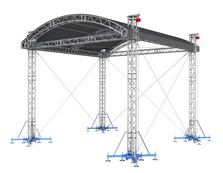 "ProFlex Arched Shape Roof system, 390mm (15.35"") Square  Truss Construction. Canopy and Walls included."