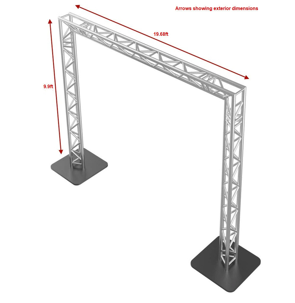 GOALIE POST 20FT X 10FT Triangle Truss Package