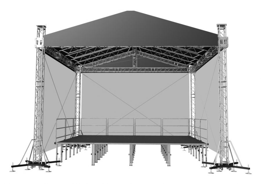 "ProFlex Gable Shape Roof system,  390mm (15.35"") Square  Truss Construction. Canopy and Walls included."