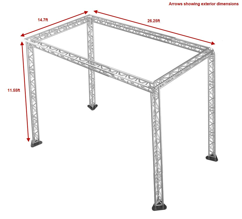 Trussing for Stage Packages – 11.55 ft high