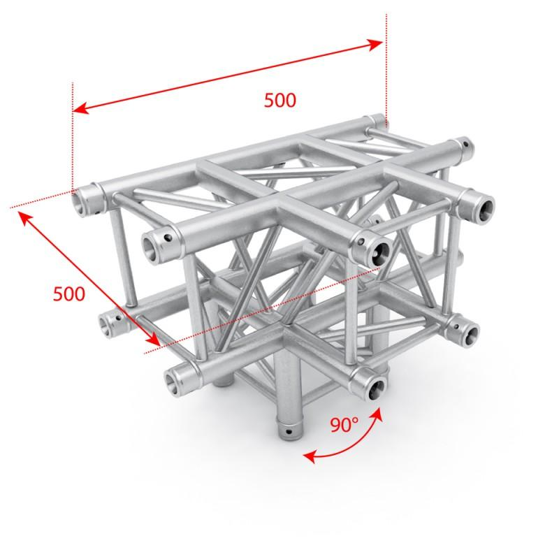 F34 Square Box Truss - 4 Way T Junction