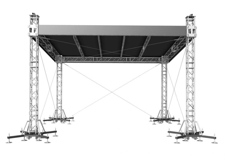 "ProFlex Straight Shape Roof system, 390mm (15.35"") Square  Truss Construction. Canopy and Walls included."