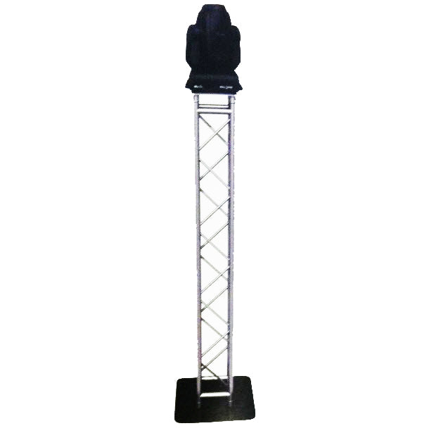 "12"" (2mm) Square Truss Moving Head Totem - 6.5 Ft High"