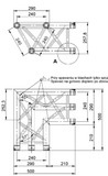 F34 Triangle Truss -  2 Way 90˚ Horizontal Corner