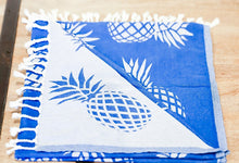 Load image into Gallery viewer, Blue Home Ananas Towel Aloha Mālie