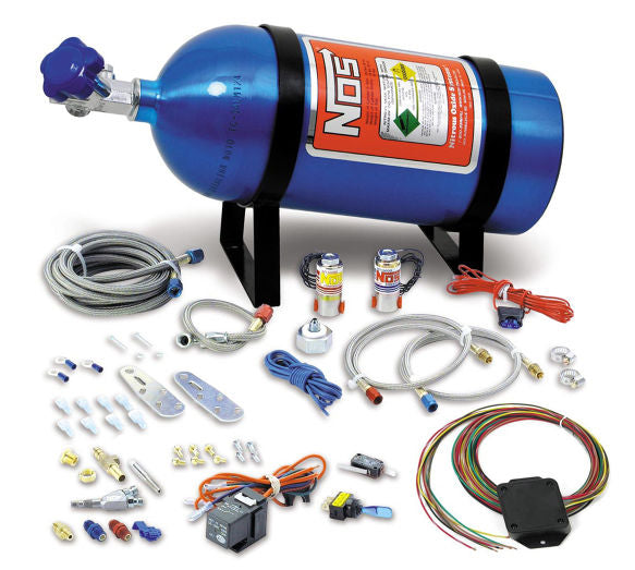 NOS UNIVERSAL WET NITROUS KIT w/10Lb Bottle and WINDOW/WOT SWITC - Busted Knuckle Off Road