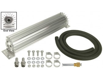 Derale 14'' dual Pass Heat Sink Cooler Kit (barbed hose fittings) - Busted Knuckle Off Road