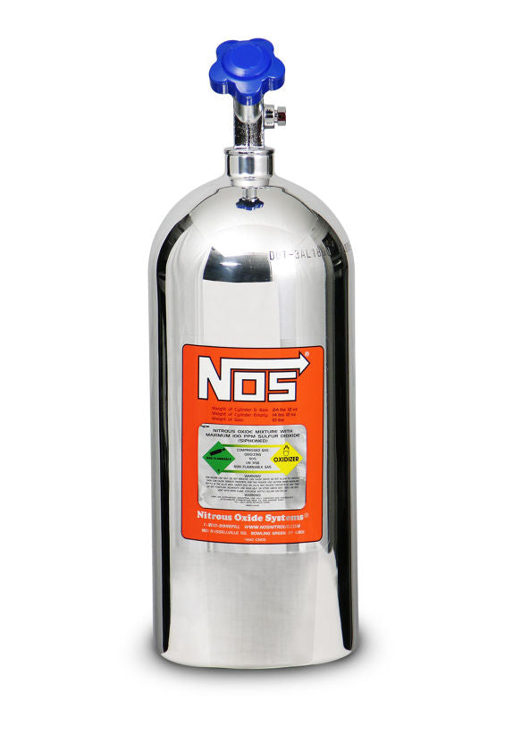 NOS 10 LB POLISHED NITROUS BOTTLE - Busted Knuckle Off Road