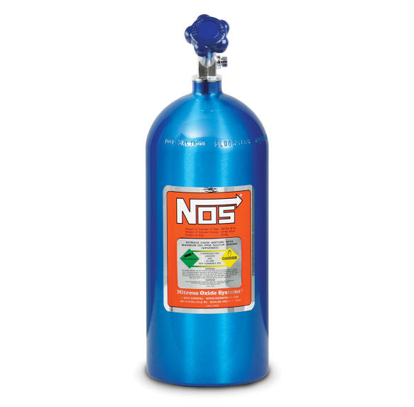NOS 15 LB ELECTRIC BLUE NITROUS BOTTLE - Busted Knuckle Off Road