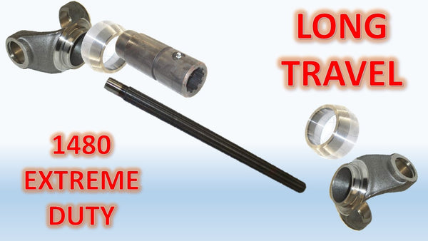 1480 Series, LONG TRAVEL EXTREME DUTY Driveshaft Builder Kit - Busted Knuckle Off Road