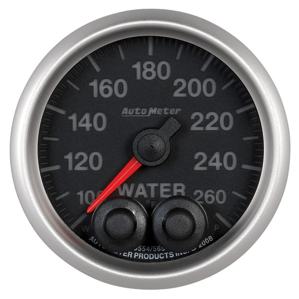 Autometer 2-1/16'' WATER TEMPERATURE, 0-260 °F, ELITE - Busted Knuckle Off Road