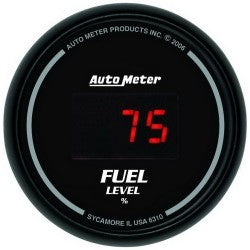 Autometer 2-1/16'' FUEL LEVEL, PROGRAMMABLE 0-280 Ω, DIGITAL BLAC - Busted Knuckle Off Road