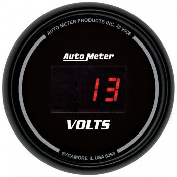Autometer 2-1/16'' VOLTMETER, 8-18V, SPORT-COMP DIGITAL - Busted Knuckle Off Road