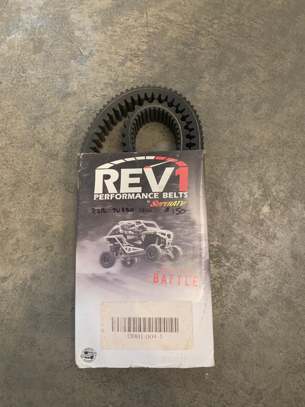 Rev1 Performance Belt - Heavy Duty - Polaris RZR Turbo - Busted Knuckle Off Road