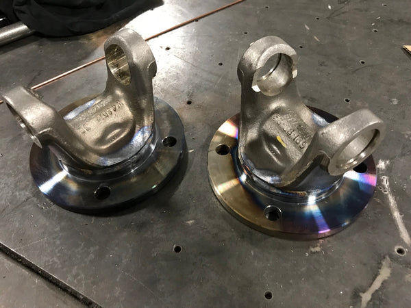 1410 3.5'' YOKE AND 4BOLT ROCKWELL WELDED - Busted Knuckle Off Road