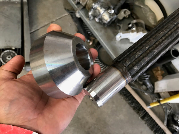 3.5'' O.D Weld Yoke Adapter to 1.8'' LONG TRAVEL SPLINES - Busted Knuckle Off Road