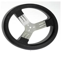 Steering Wheel Aluminum with Black Grip - Busted Knuckle Off Road