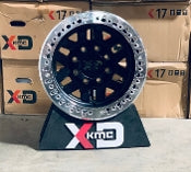KMC XD229 Machete Crawl Satin Black Wheels with Machined Beadlock Ring - Busted Knuckle Off Road