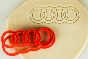 Audi Logo Badge Cookie Cutter