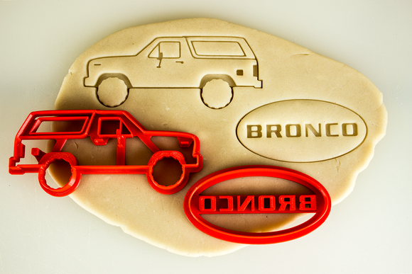 Ford Bronco 3th Third Generation Cookie Cutter Set