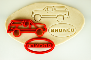 Ford Bronco 4th Fourth Generation Cookie Cutter Set