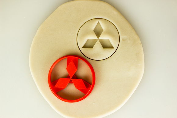 Mitsubishi Logo Badge Cookie Cutter