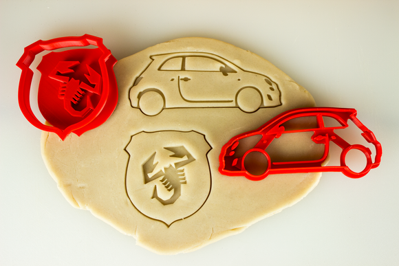 Fiat 500 Abarth Cookie Cutter Set