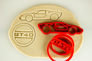 Ford GT40 Vintage leMans Cookie Cutter Set