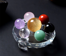 Load image into Gallery viewer, 7 Chakra Ball Crystals Grid