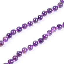 Load image into Gallery viewer, Natural Amethyst Crystal 108 Beads Mala